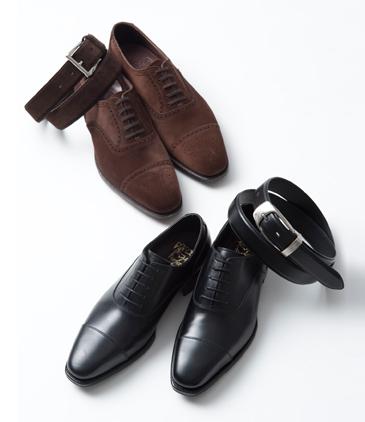 ベルトと革靴