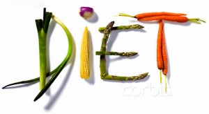 """Diet"" Written with Vegetables"