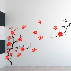 Beautiful-Sakura-tree-DIY-Indoor-Wall-Painter